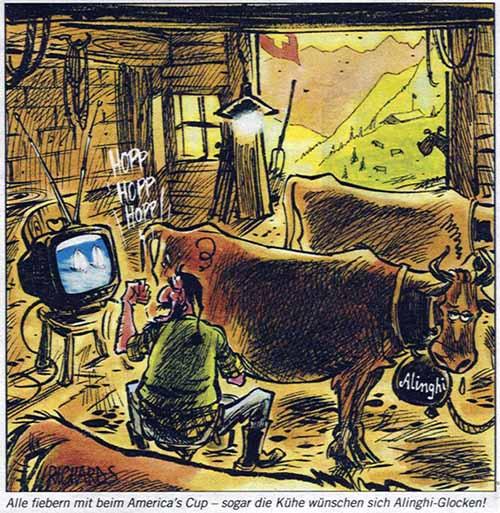 Kühe wollen keine Alinghi-Glocken und auch keine Kuhglocken!