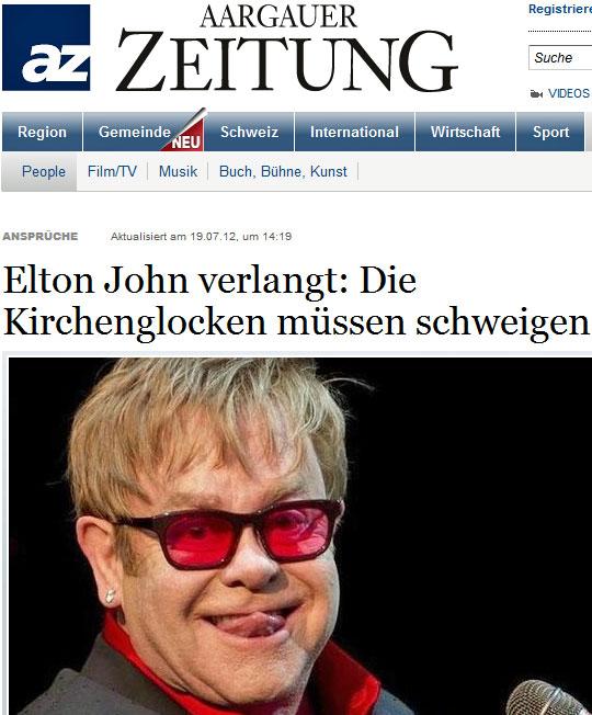 Elton John gegen Kirchenglocken