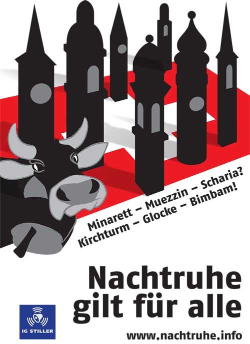 Minarett - Muezzin - Kirchturm - Kirchenglocken - Kühe - Kuhglocken : Alle müssen sich an die Nachtruhe halten!