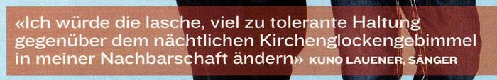 Kuno Lauener gegen Kirchenglocken-Lärm.